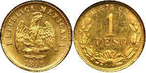 1 Песо Соединённые Штаты Мексики (1867 - ) Золото