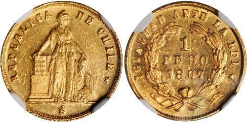1 Песо Чили Золото