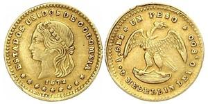 1 Песо United States of Colombia  (1863 - 1886) Золото