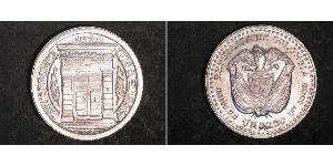 1 Песо Колумбия Серебро
