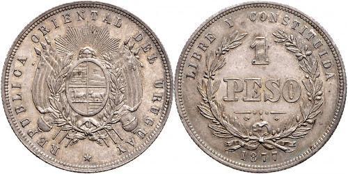 1 Песо Уругвай Серебро