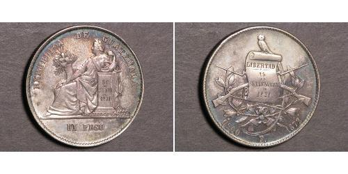 1 Песо Гватемала Срібло