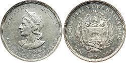 1 Песо Сальвадор Срібло Христофор Колумб (1451 - 1506)