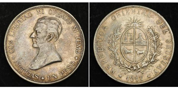 1 Песо Уругвай Срібло