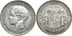 1 Песо Філіппіни Срібло Alfonso XIII of Spain (1886 - 1941)