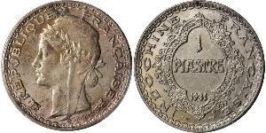 1 Пиастр Французский Индокитай (1887-1954) Серебро