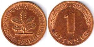 1 Пфенниг ФРГ (1949-1990) Бронза