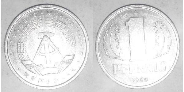 1 Пфеніг Німецька Демократична Республіка (1949-1990) Алюміній