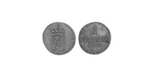1 Пфеніг Королівство Баварія (1806 - 1918) Мідь