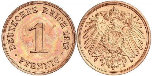 1 Пфеніг Німеччина Мідь