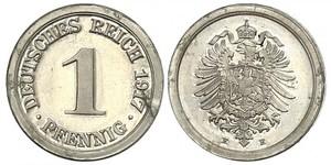 1 Пфеніг Німецька імперія (1871-1918) / Німеччина