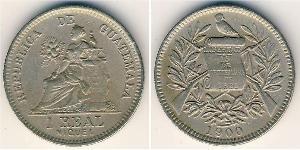 1 Реал Республика Гватемала (1838 - ) Никель