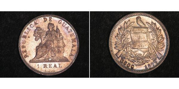 1 Реал Республіка Ґватемала (1838 - ) Нікель