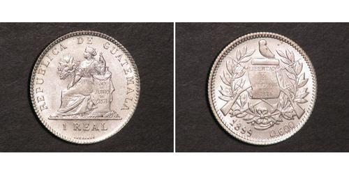 1 Реал Республика Гватемала (1838 - ) Серебро