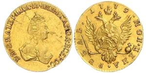 1 Рубль Российская империя (1720-1917) Золото Екатерина II (1729-1796)
