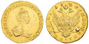 1 Рубль Російська імперія (1720-1917) Золото Катерина II (1729-1796)