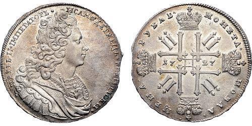1 Рубль Российская империя (1720-1917) Серебро Пётр II (1715-1730)