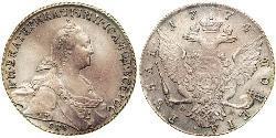 1 Рубль Російська імперія (1720-1917) Срібло Катерина II (1729-1796)