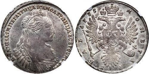 1 Рубль Російська імперія (1720-1917) Срібло Анна Іванівна (1693-1740)