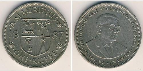 1 Рупия Маврикий Никель/Медь