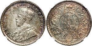 1 Рупия Британская Индия (1858-1947) Серебро Георг V (1865-1936)