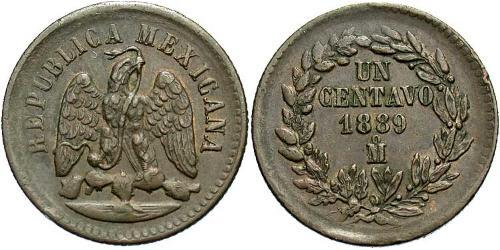 1 Сентаво Соединённые Штаты Мексики (1867 - ) Медь