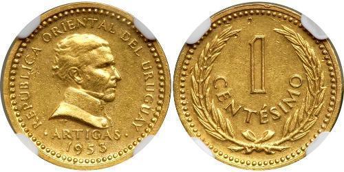 1 Сентесимо Уругвай Золото Артигас, Хосе Хервасио