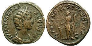 1 Сестерций Римская империя (27BC-395) Бронза Julia Avita Mamaea (180-235)