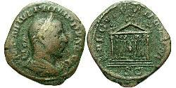 1 Сестерцій Римська імперія (27BC-395) Бронза Філіпп Араб (204-249)