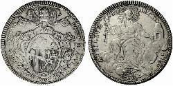 1 Скудо Ватикан Срібло Пій VI ( 1717-1799)
