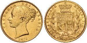 1 Соверен Австралія (1788 - 1939) Золото Вікторія (1819 - 1901)