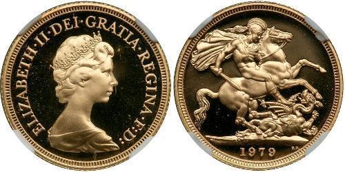 1 Соверен Велика Британія (1922-) Золото Вікторія (1819 - 1901)