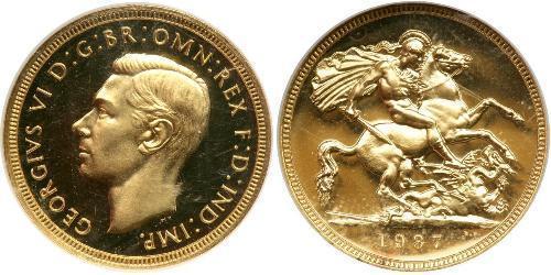1 Соверен Велика Британія (1922-) Золото Георг VI (1895-1952)