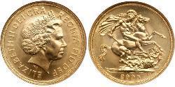 1 Соверен Велика Британія  Золото Єлизавета II (1926-)