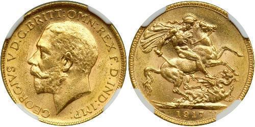1 Соверен Канада Золото Георг V (1865-1936)
