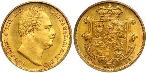 1 Соверен Соединённое королевство Великобритании и Ирландии (1801-1922) Золото Вильгельм IV (1765-1837)