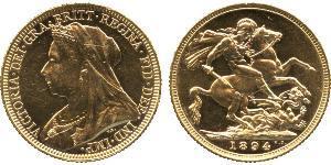 1 Соверен Сполучене королівство Великобританії та Ірландії (1801-1922) Золото Вікторія (1819 - 1901)