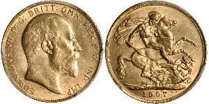 1 Соверен Сполучене королівство Великобританії та Ірландії (1801-1922) Золото Едвард VII (1841-1910)