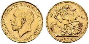 1 Соверен Сполучене королівство Великобританії та Ірландії (1801-1922) Золото Георг V (1865-1936)