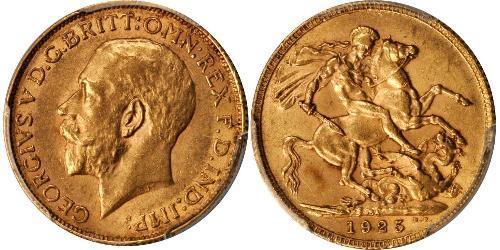 1 Соверен Южно-Африканская Республика Золото Георг V (1865-1936)
