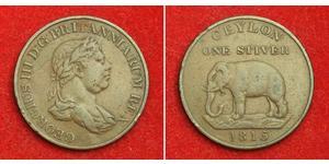 1 Стивер Шри Ланка/Цейлон / Соединённое королевство Великобритании и Ирландии (1801-1922) Медь Георг III (1738-1820)
