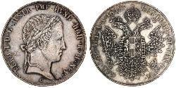 1 Талер Австрийская империя (1804-1867) Серебро Ferdinand I of Austria (1793 - 1875)