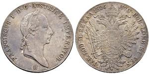 1 Талер Австрийская империя (1804-1867) Серебро Francis II, Holy Roman Emperor (1768 - 1835)