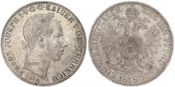 1 Талер Австрийская империя (1804-1867) Серебро Франц Иосиф I (1830 - 1916)