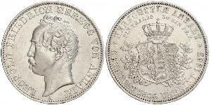 1 Талер Ангальт-Дессау (1603 -1863) / Анхальт (1806 - 1918) Серебро Леопольд IV ,герцог Анхальта(1794 – 1871)