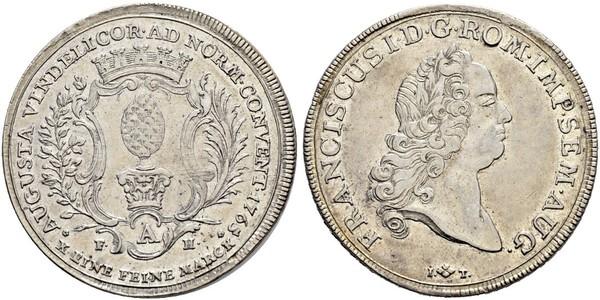1 Талер Аугсбург (1276 - 1803) Серебро Франц I Стефан(1708-1765)
