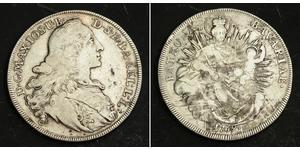 1 Талер Бавария (курфюршество) (1623 - 1806) Серебро Максимилиан III (курфюрст Баварии)(1727 – 1777)