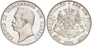 1 Талер Великое герцогство Гессен (1806 - 1918) Серебро Людвиг III (великий герцог Гессенский)