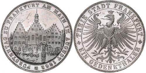 1 Талер Вольный город Франкфурт Серебро