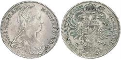 1 Талер Габсбургская империя (1526-1804) Серебро Maria Theresa of Austria (1717 - 1780)
